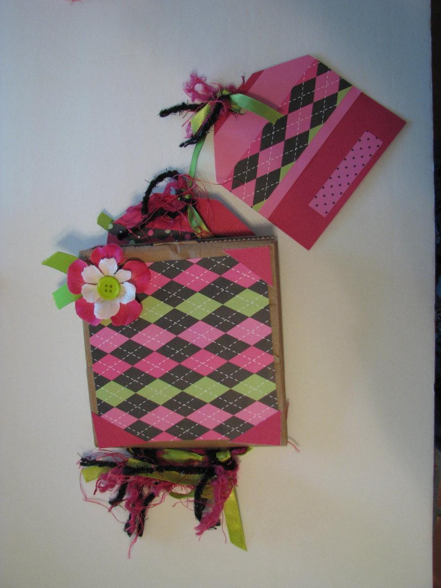 Birthday Paper Bag Scrapbook for girl
