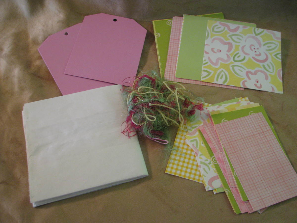 What is in Paper Bag Scrapbook Kit