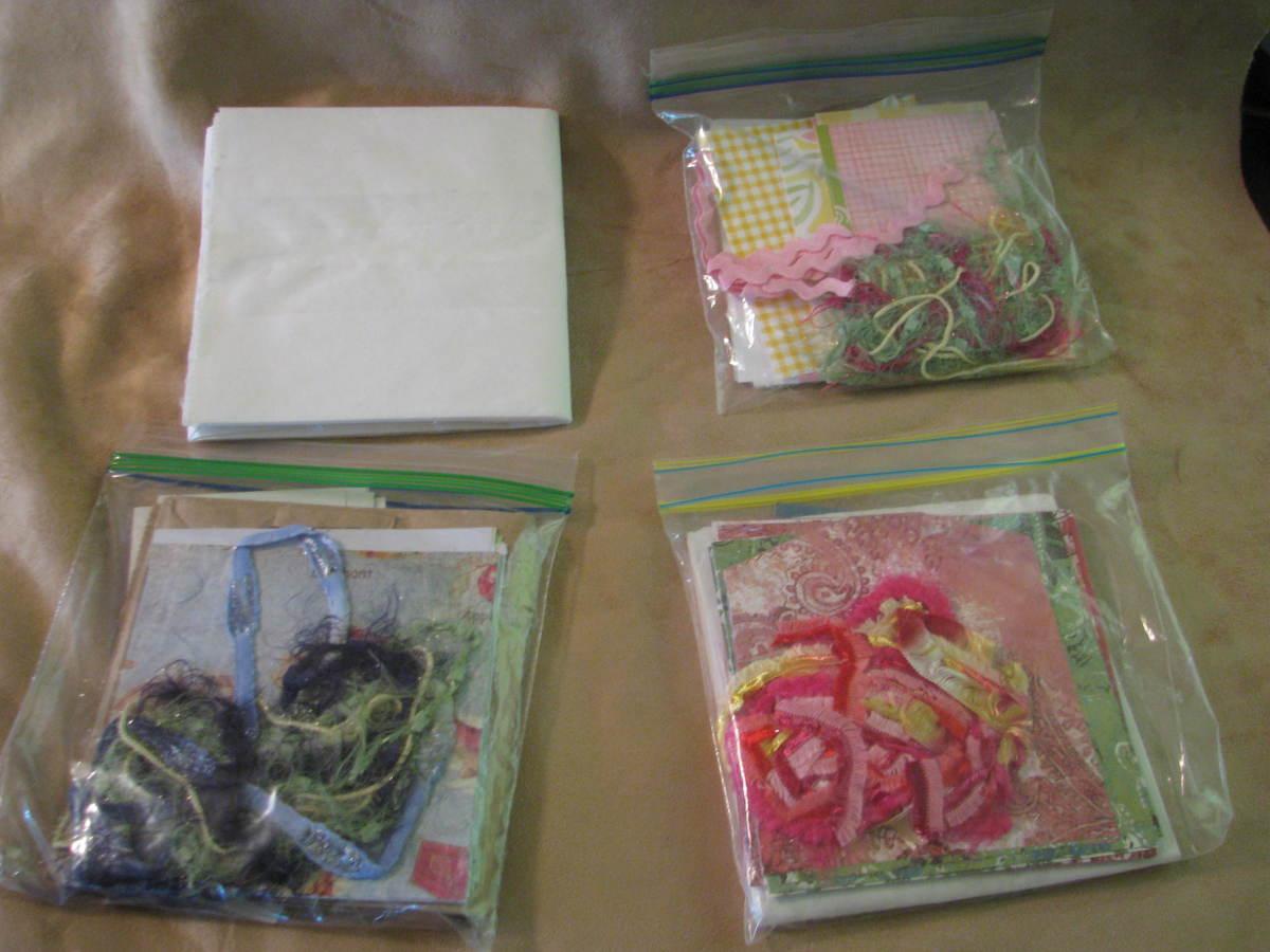 Paper Bag Scrapbook kits in Bags