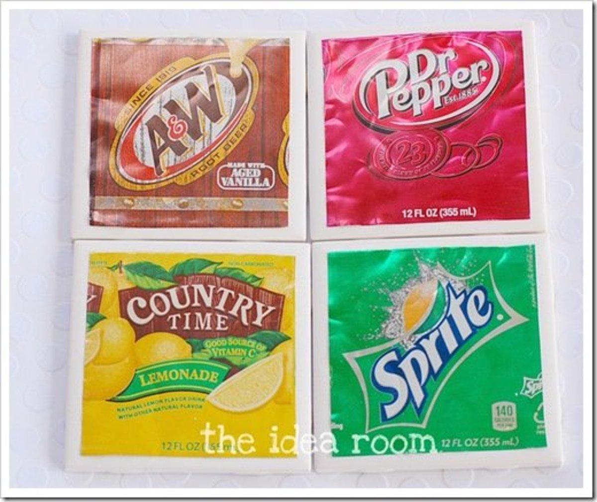 Soda Can Coasters!