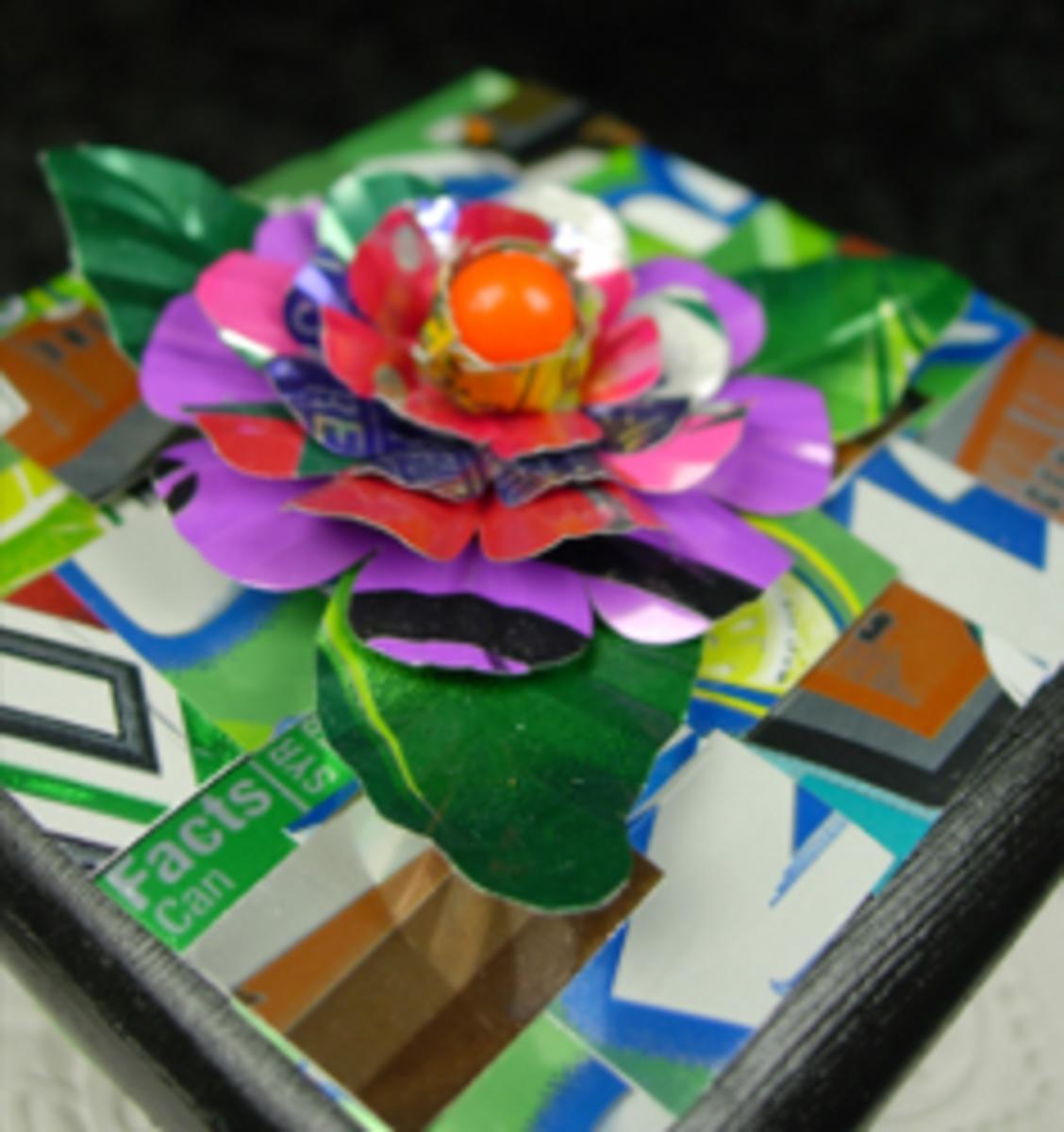 Soda Can Flower Box Topper