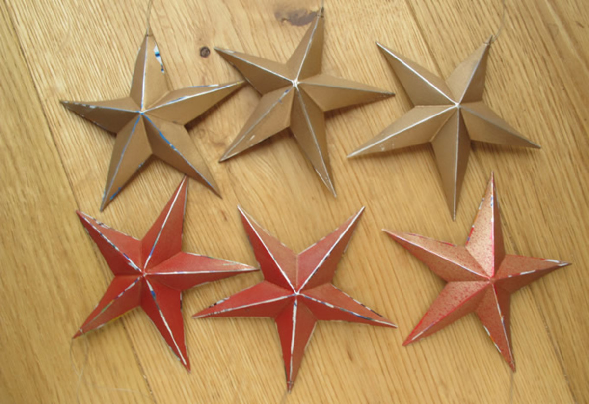 Stars made from Drink Cans