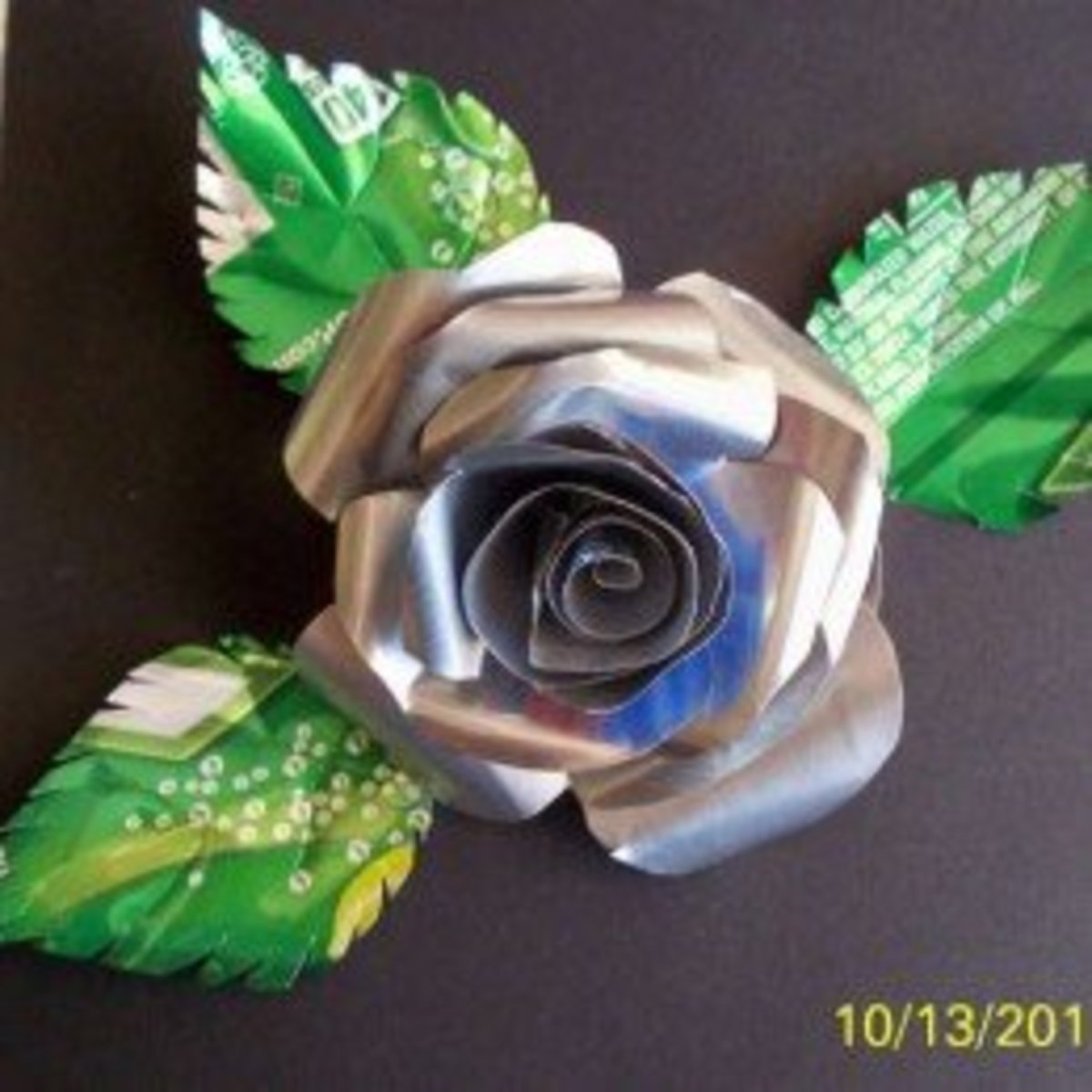 Rose made from a Soft Drink Can