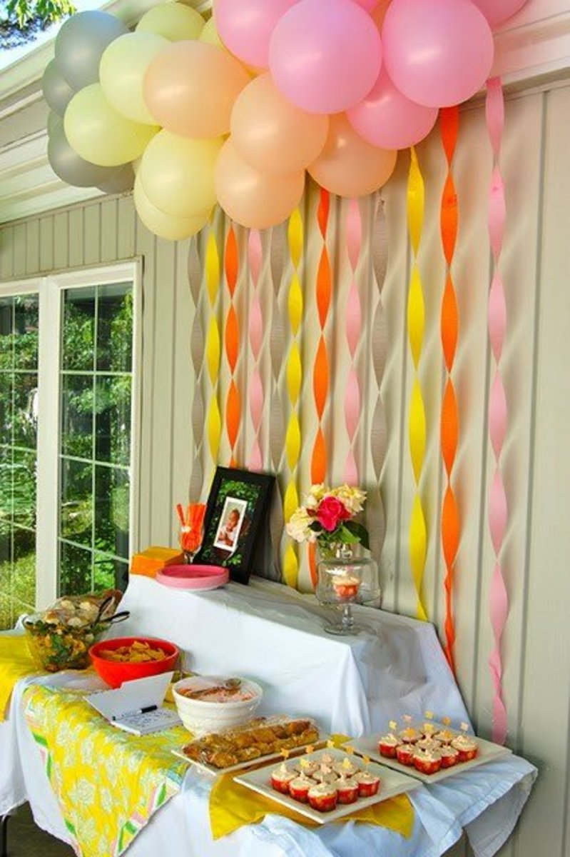 Crepe Paper Backdrop Or Canopy