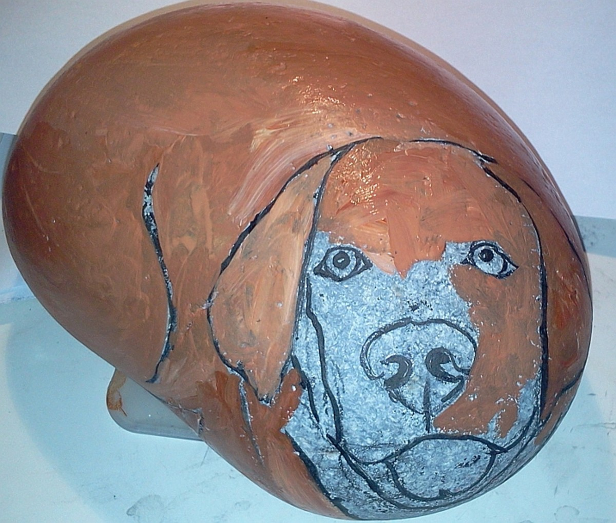 Under painting Labrador Retriever's coat