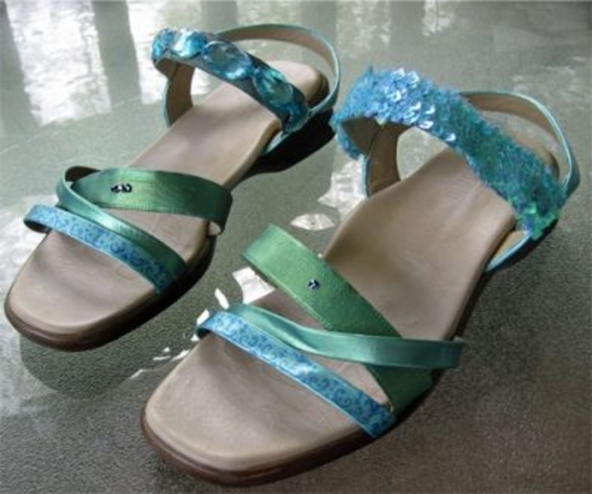 Which solution looks better, the bejeweled strap or the sequin trim strap?