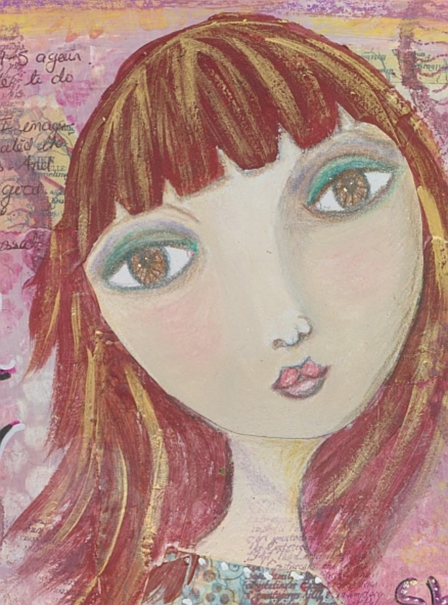 How To Make An Art Journal Page Mixed Media Step By Step
