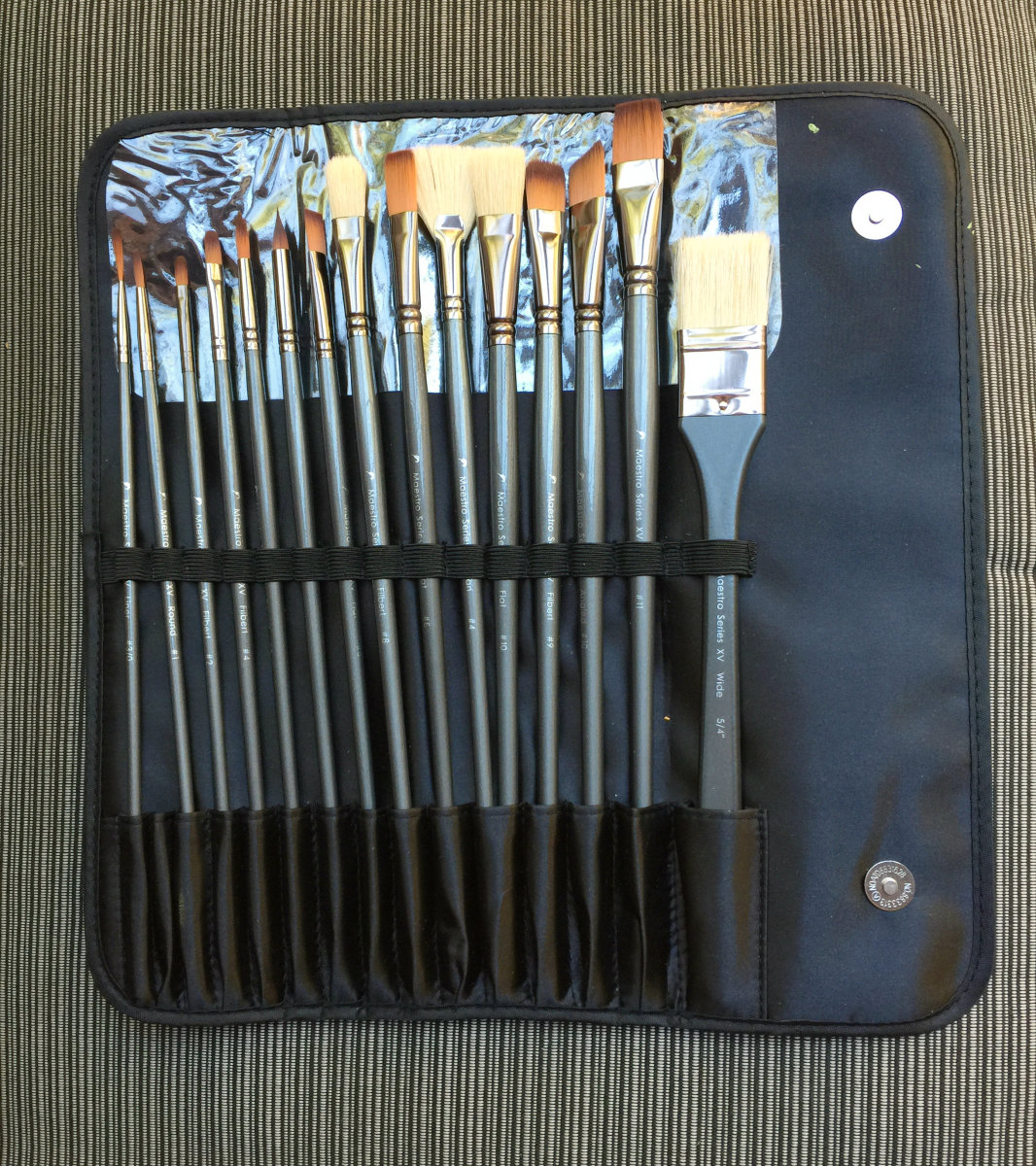 Or you may keep then in a brush case, also handy for traveling.