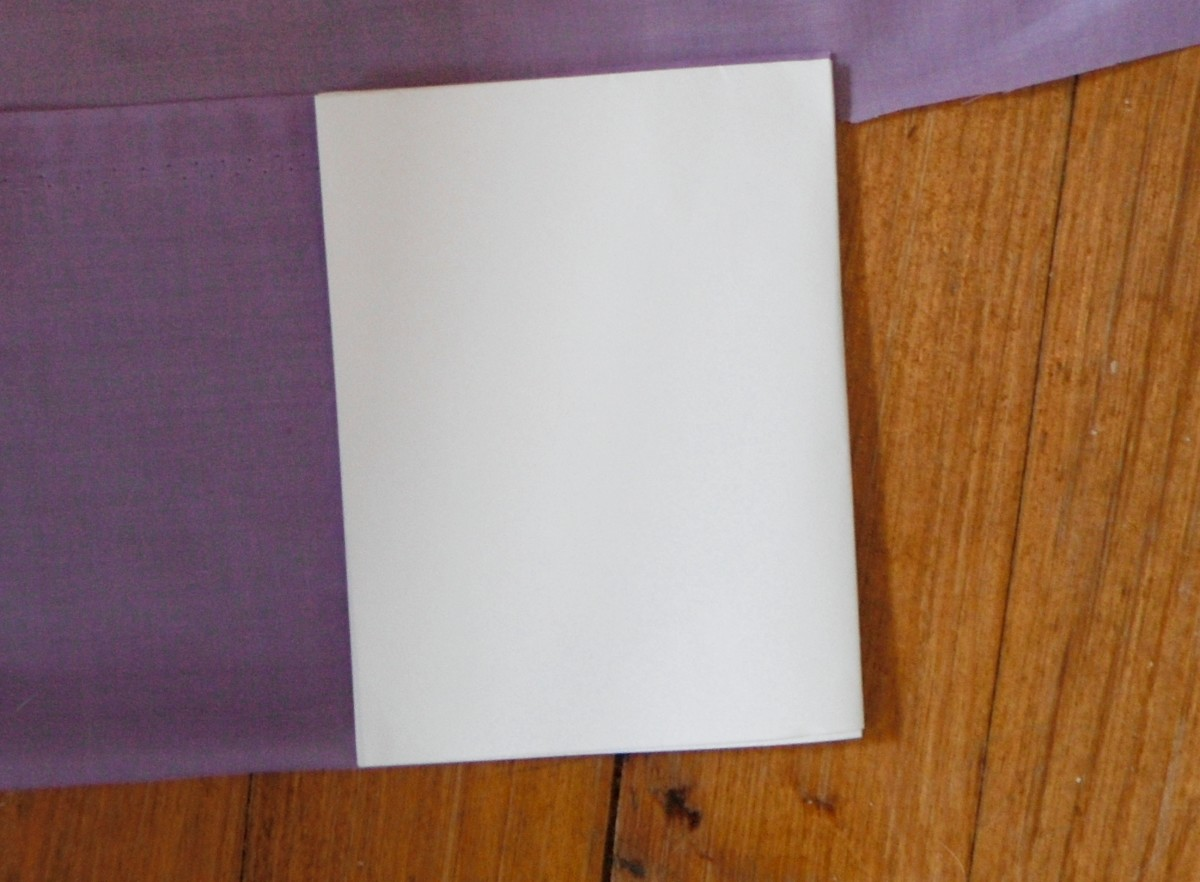 Quartered printer paper used as a pattern
