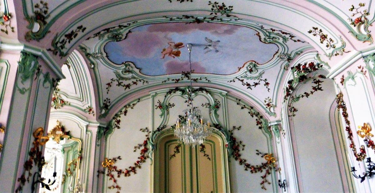 Much pleasure can be found in color, shape, form, and image. Surrounding yourself with things you love brings you happiness. Image: architectural detail inside a home in Poland.