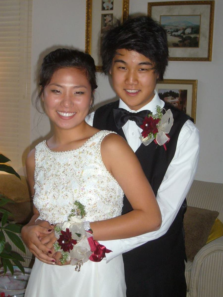 A year later, so still together and still rocking their  boutonniere and corsage.