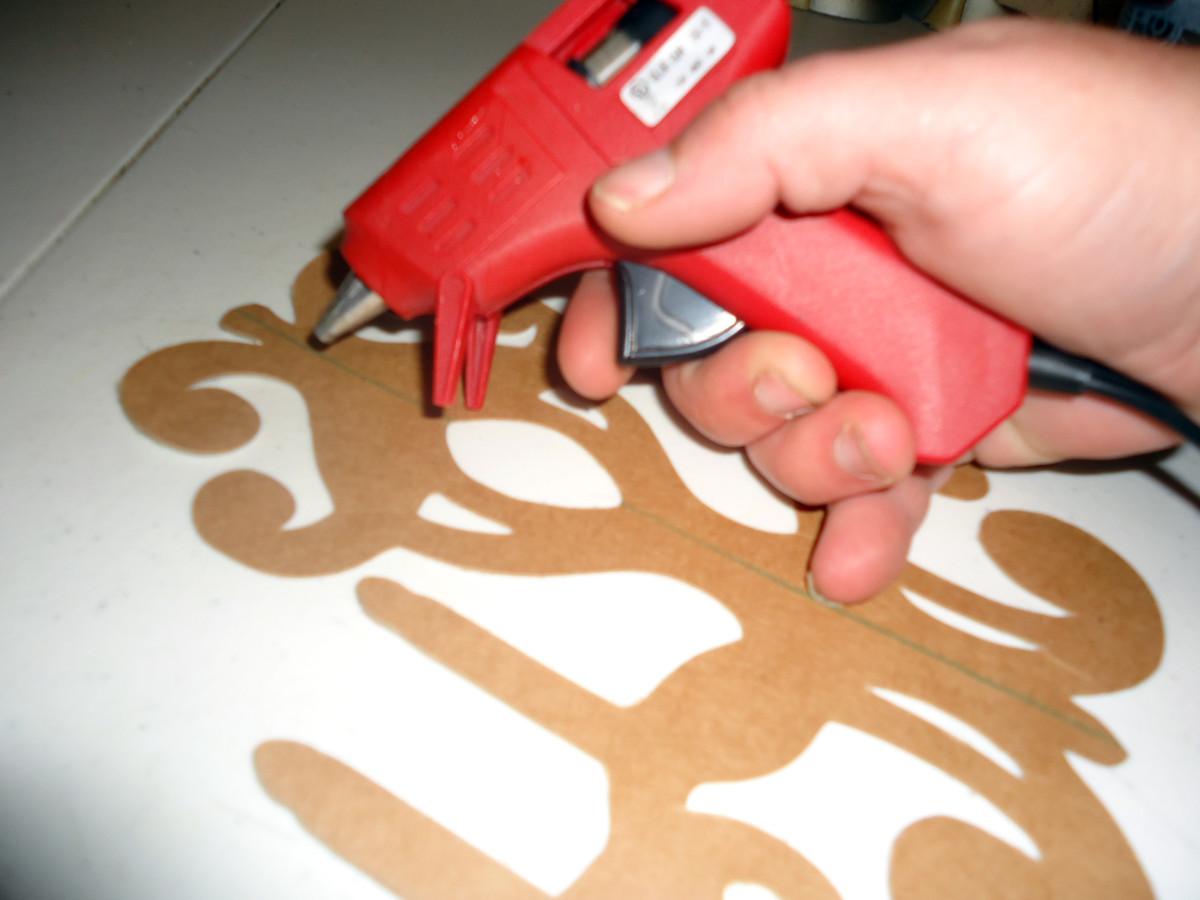 line of glue