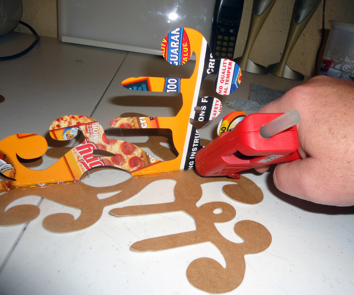 putting another line of glue for stability