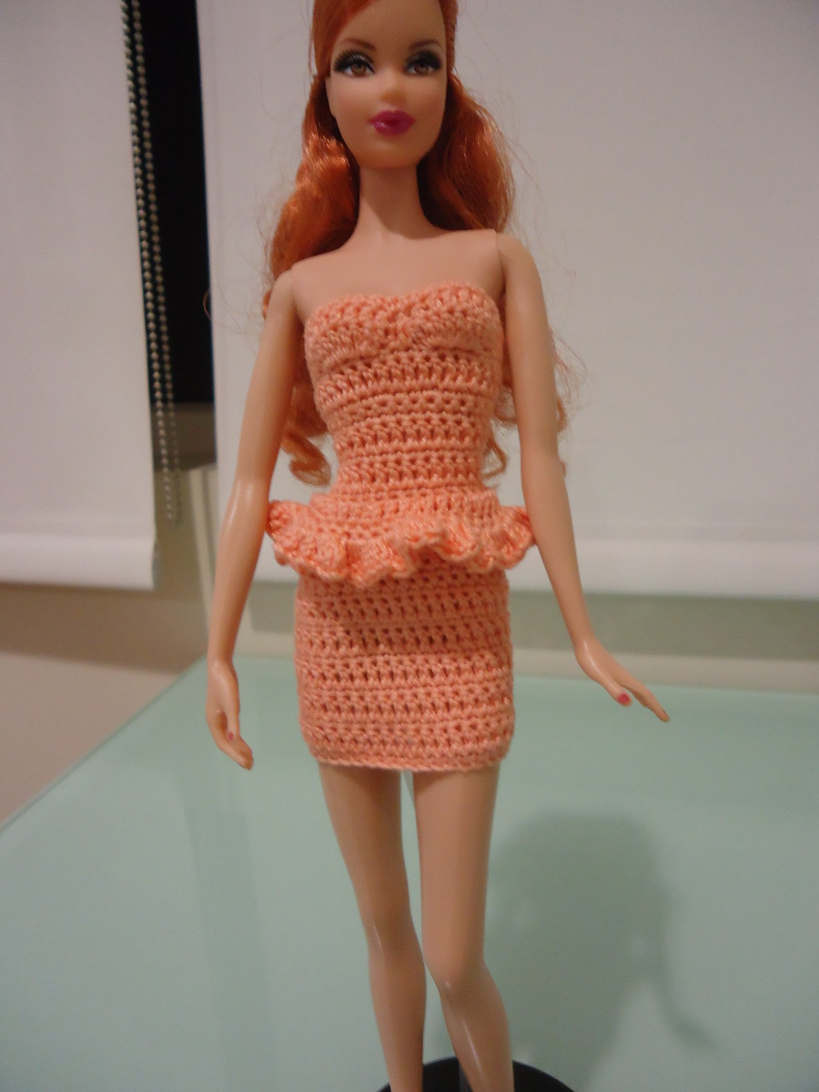 Barbie Simple Strapless Bodycon Dress (Free Crochet ...