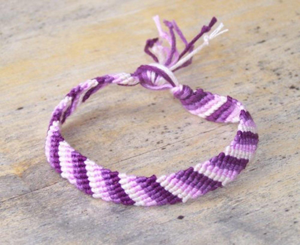 How To Make A Simple Friendship Bracelet Feltmagnet Crafts