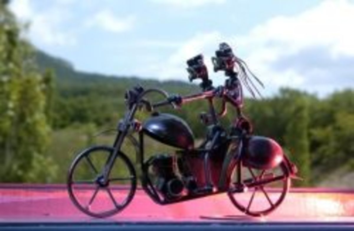 miniature metal welded motorcycle