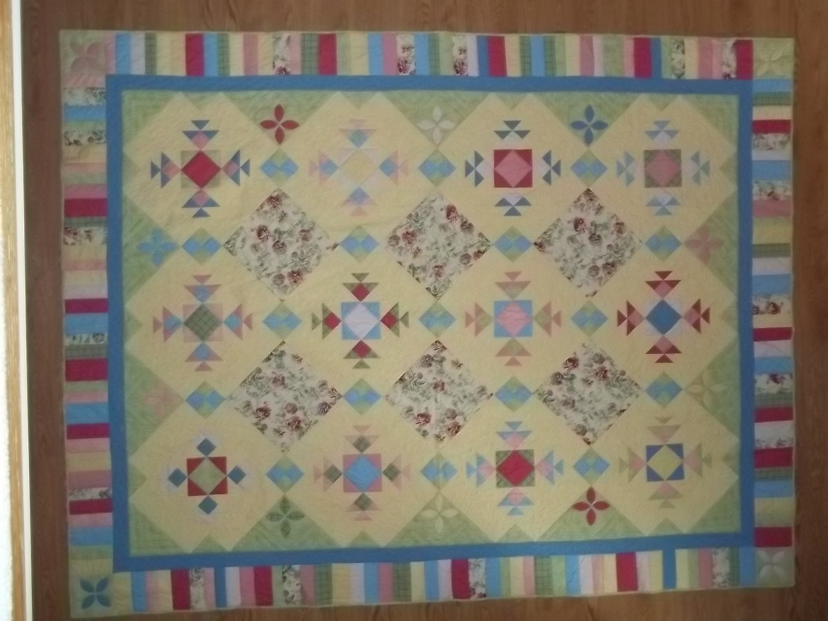 """Summer Breezes"", My original design a using traditional block.  Won Best in Show at a non-juried show."