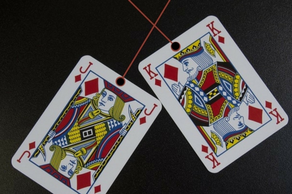 Turn playing cards into ornaments!