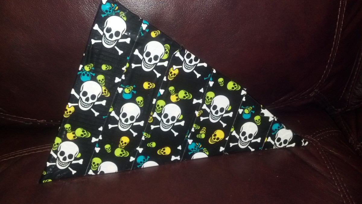 Our finished pirate flag.