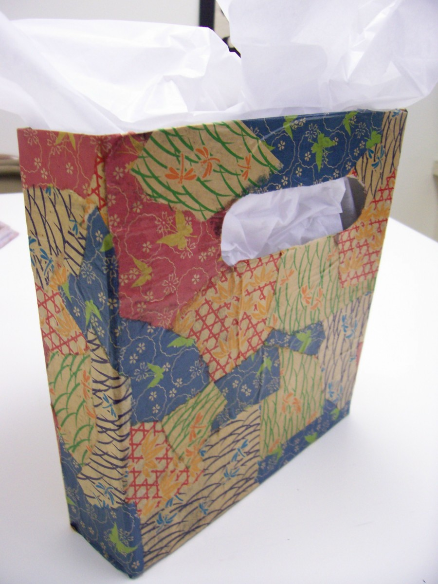 Cereal Box Tote with Cut Out Handle