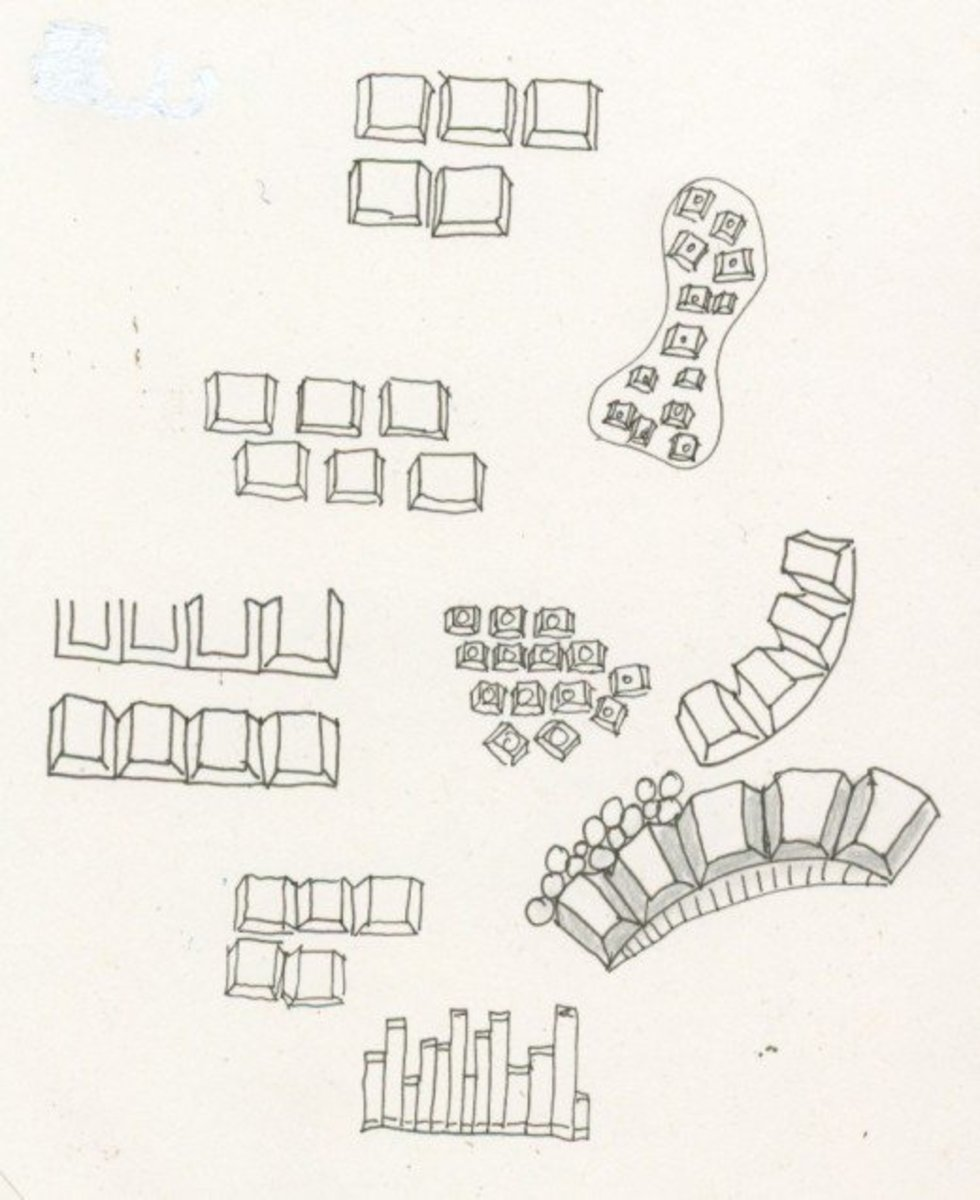 Keyboard-inspired tangles