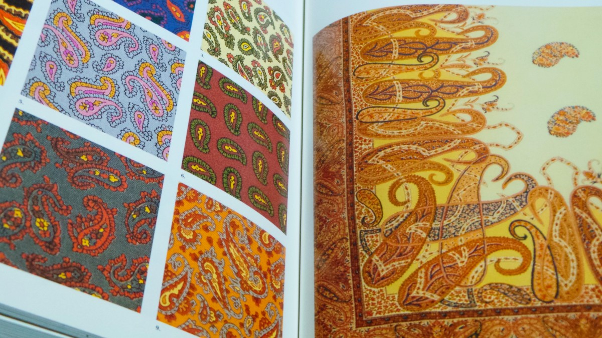 Books of textile samples are great sources of Zentangle ideas