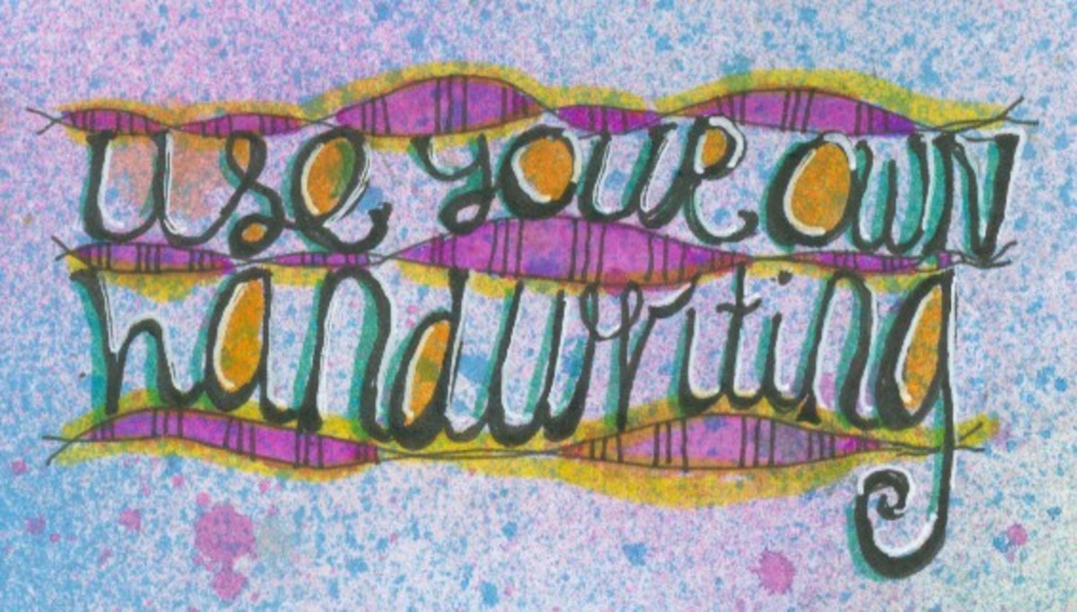 Embellish your handwriting and decorate the guidelines with line and color.