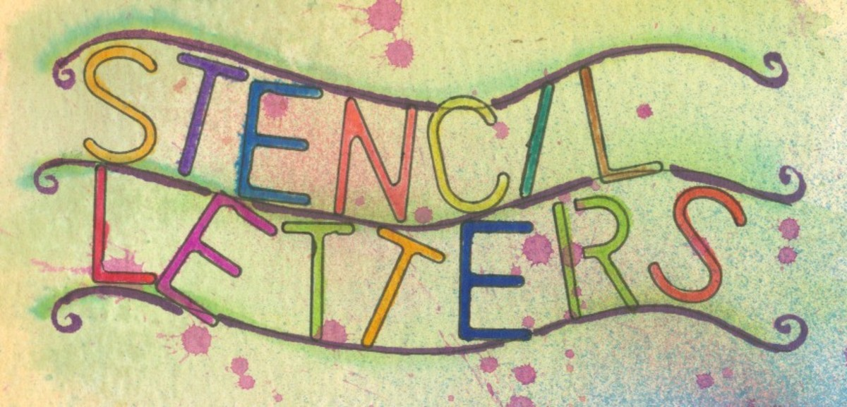 Simple stencil lettering.