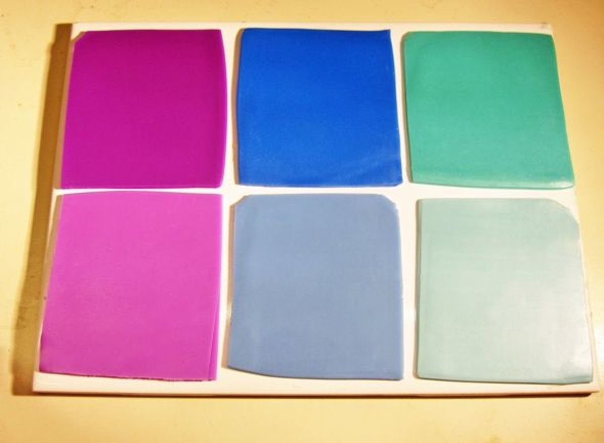 Conditioned, rolled and trimmed polymer clay sheets for mokume gane veneer