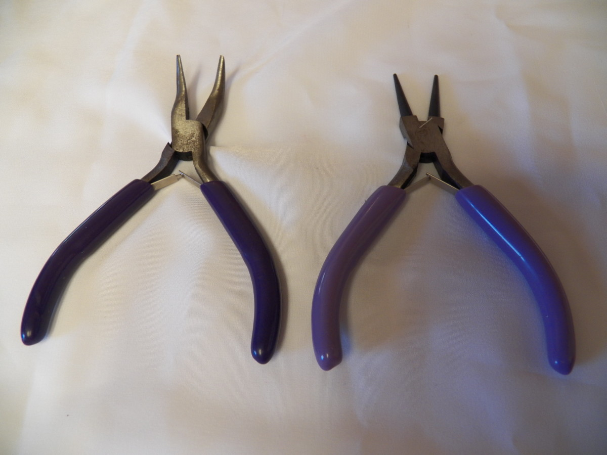 Bent Nosed Pliers and Round Nosed Pliers are probably the next most used bead tools.