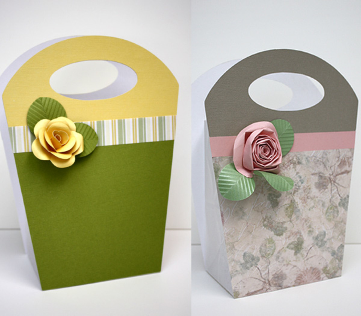 Gift bags from patterned paper