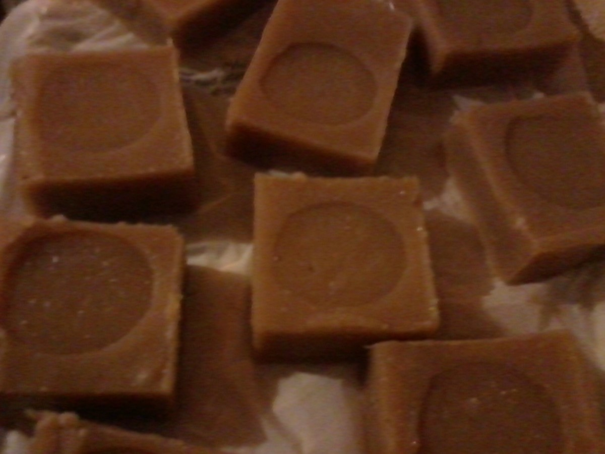 Soap colored with coffee