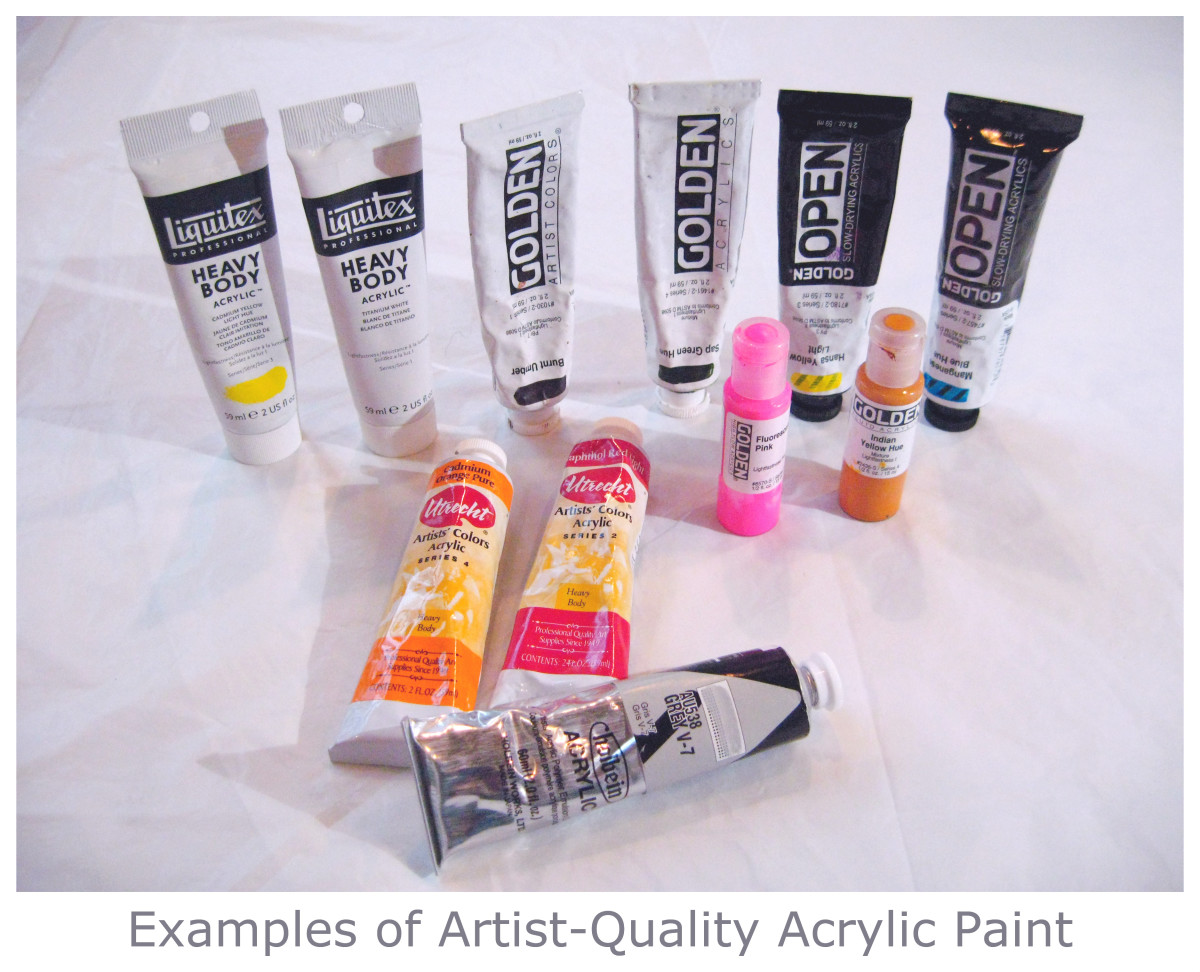 Artist-quality acrylic paints have higher pigmentation and less fillers. They do their job better than student grade paints, and they make it easier for the artist.