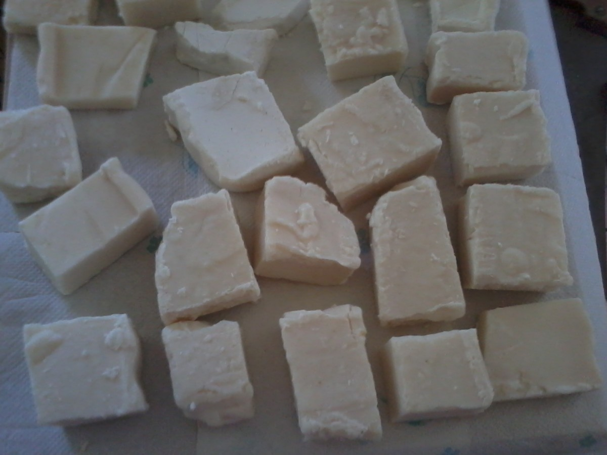 Curing soap makes the bars harder and milder. Cold process soap should be allowed to cure for 2 to 4 weeks. Turn the bars over every other day or so to help the process.
