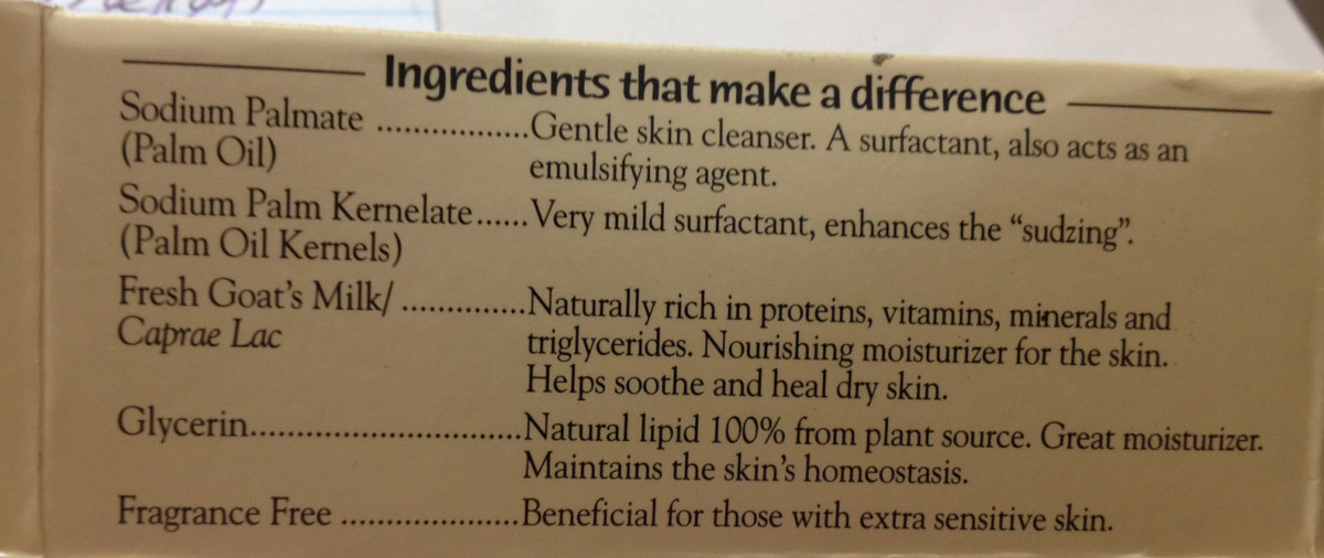 For those interested, here is what is in Canus soap.