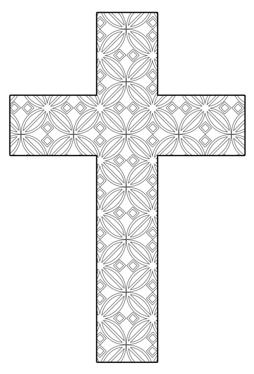 graphic regarding Printable Cross Pattern called Totally free Printable Cross Coloring Internet pages FeltMagnet