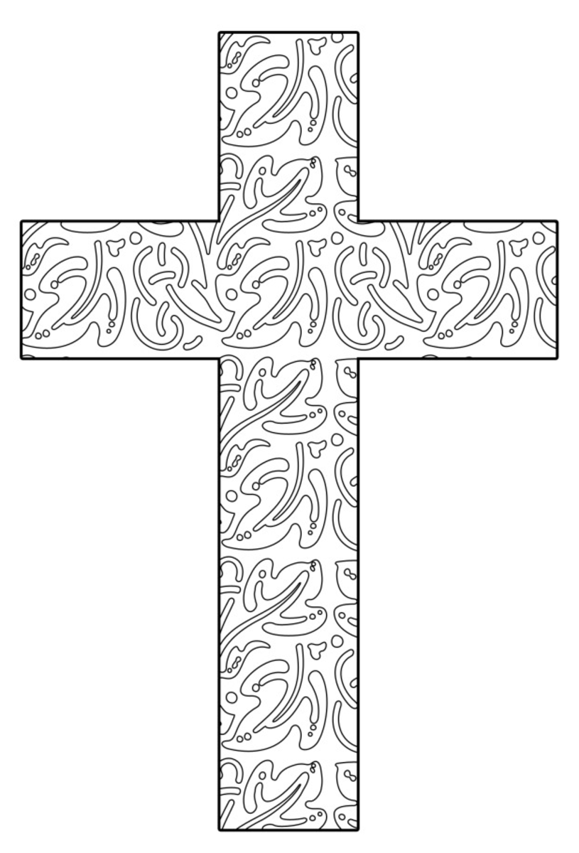 cross coloring pages for free - photo#12
