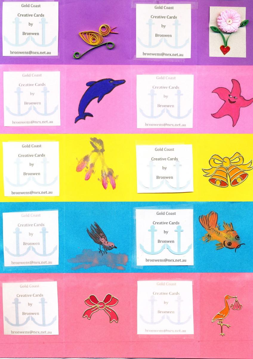 Variety Sheet of Handmade Gift Tags