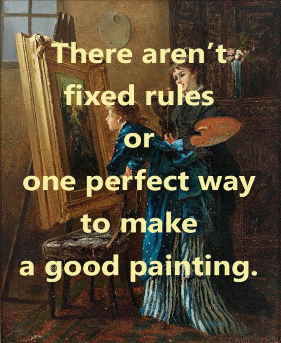 There are no fixed rules and there isn't one perfect way to approach the painting.