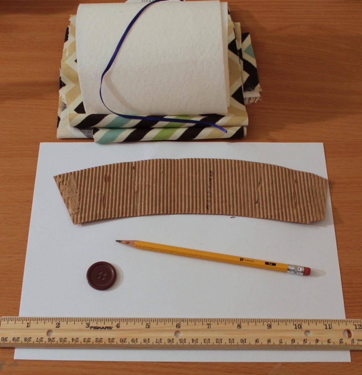 Supplies for a reusable coffee sleeve