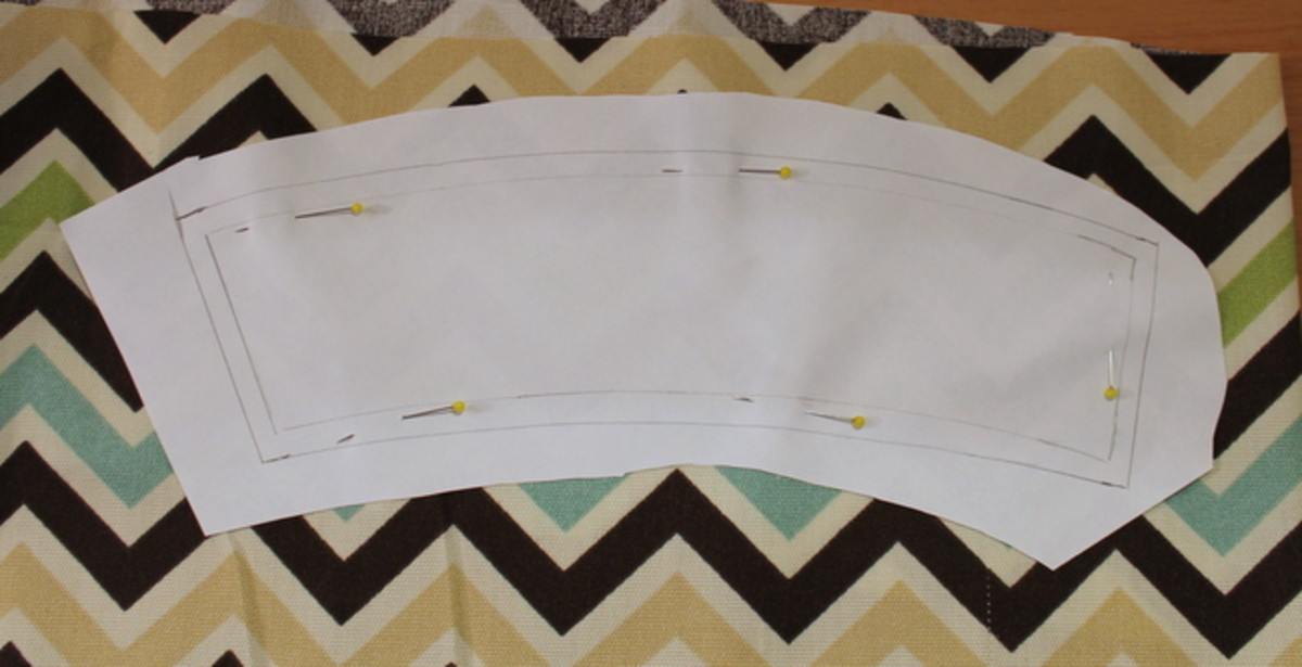 Pin the paper pattern to the fabric.