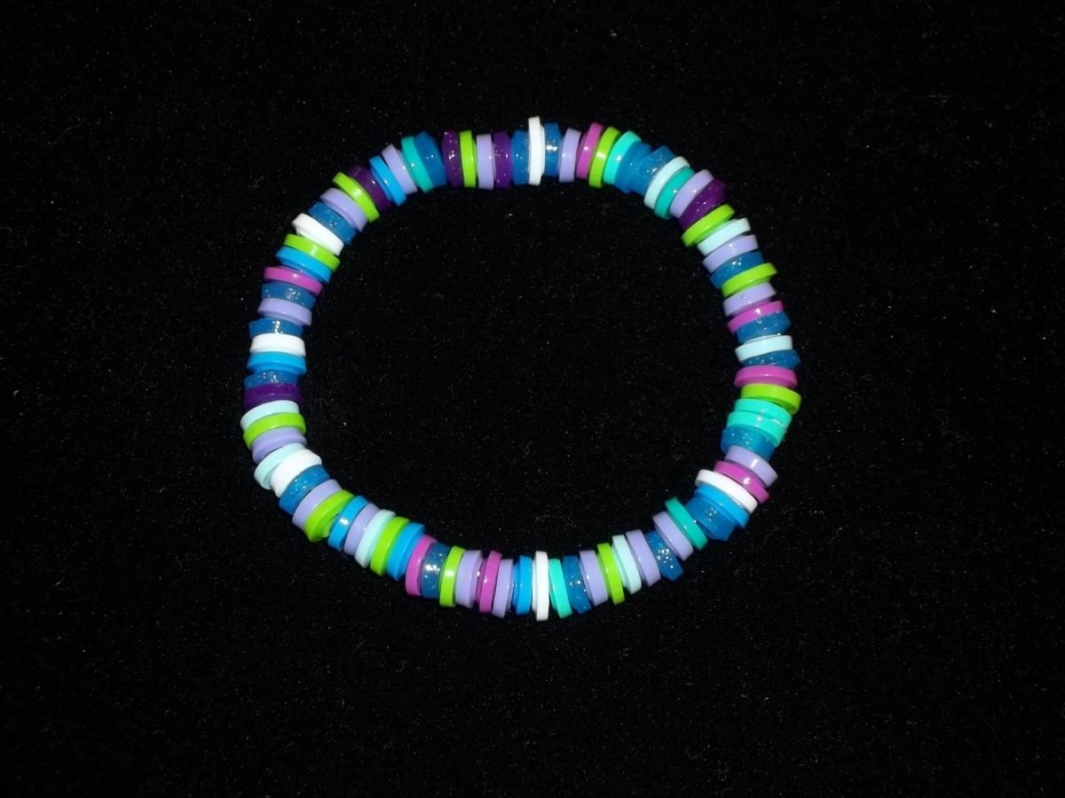 Melted Perler Bead Bracelet