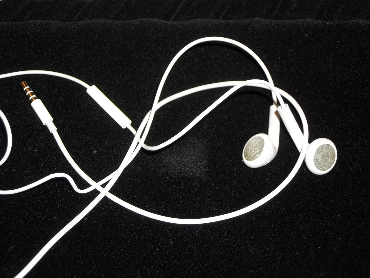 Plain Earbuds.