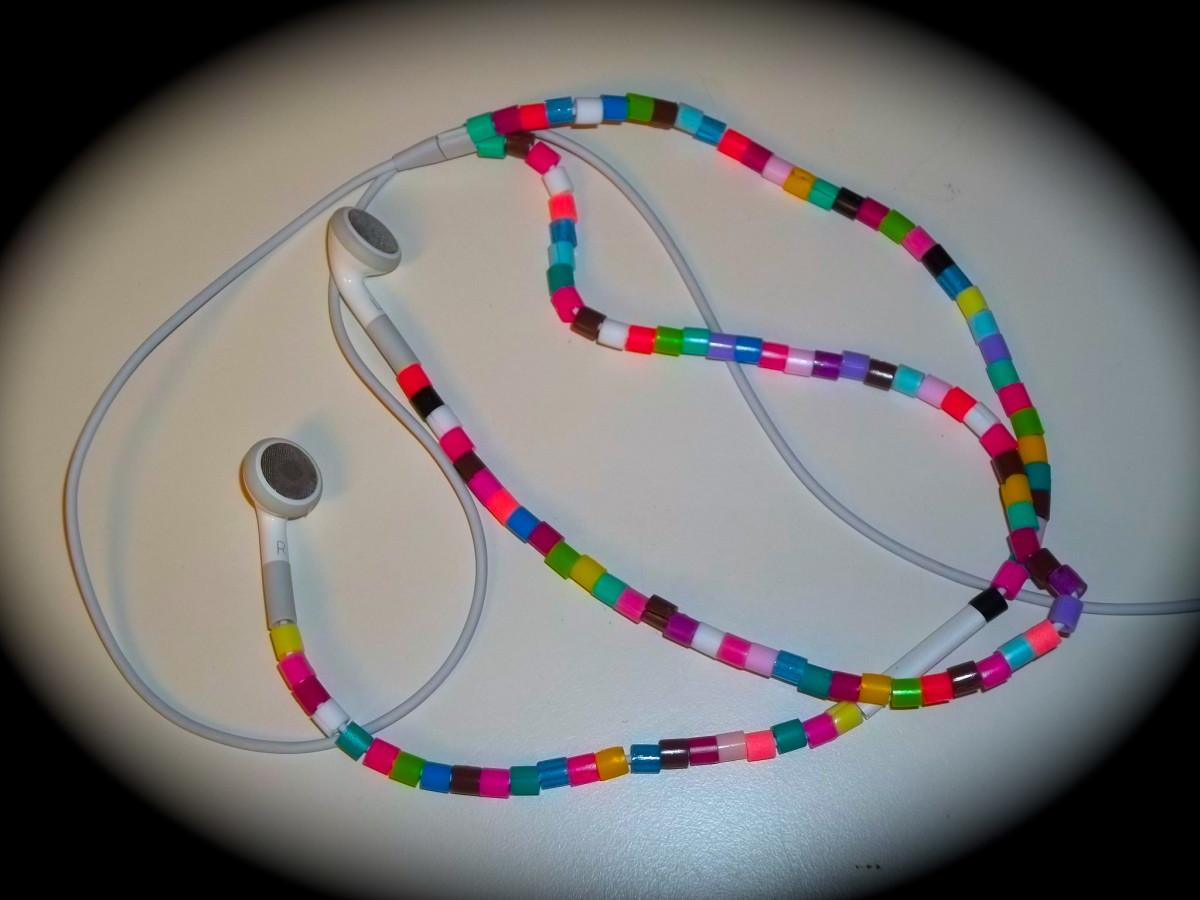 Perler Bead Earbud Covers