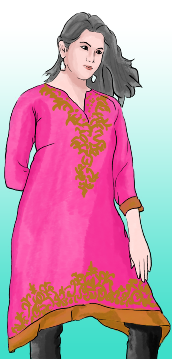 Once you have finished your kurti, all that's left to do is wear it!