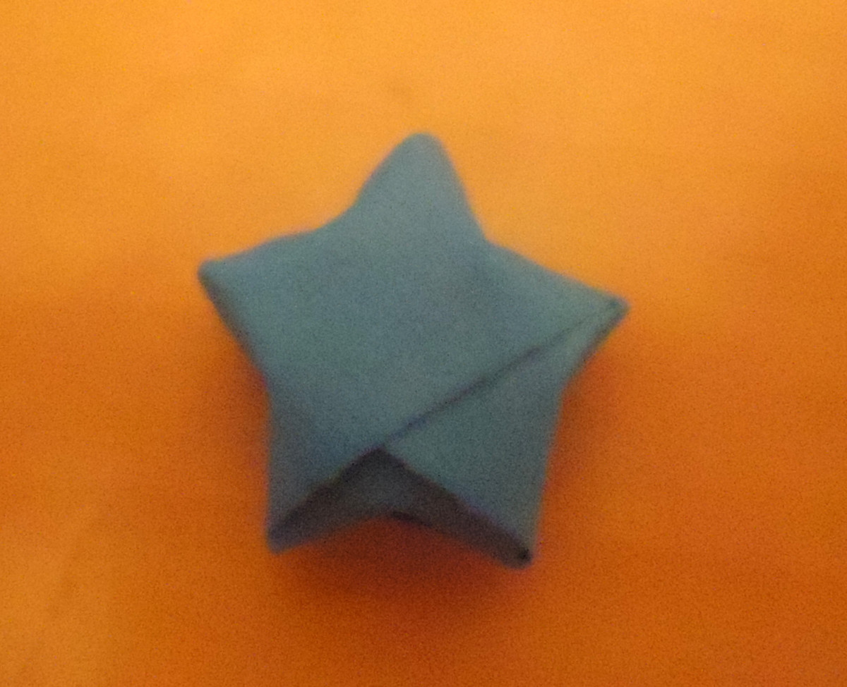 all sides finished -  a cute puffy star!