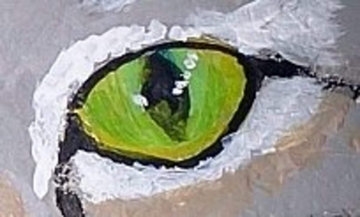 Do the eyes early on to give the rock some character - tidying up and fine details will be completed later.