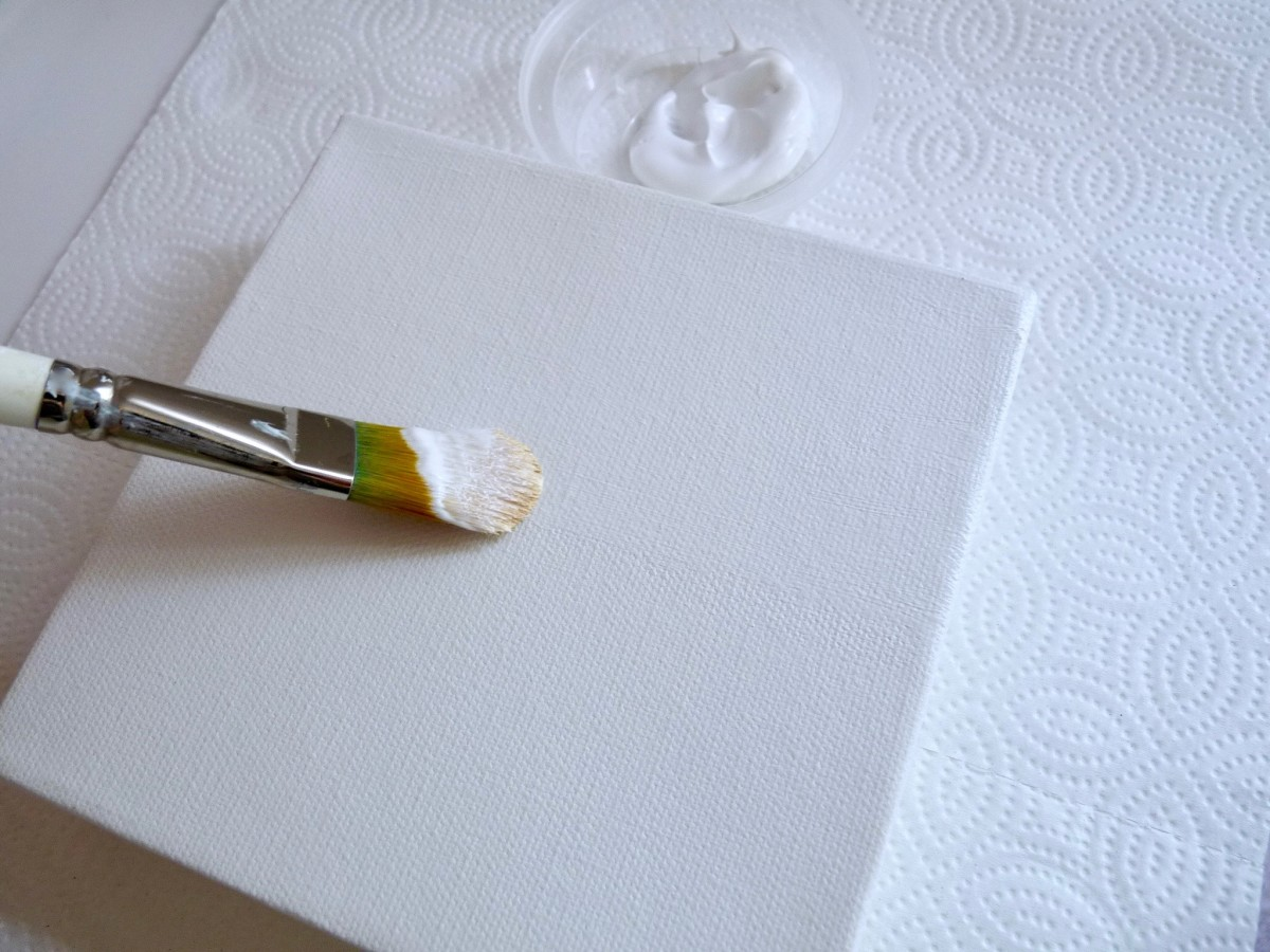 Take your time and apply the gesso in neat, smooth strokes.