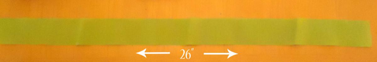 crepe paper strip