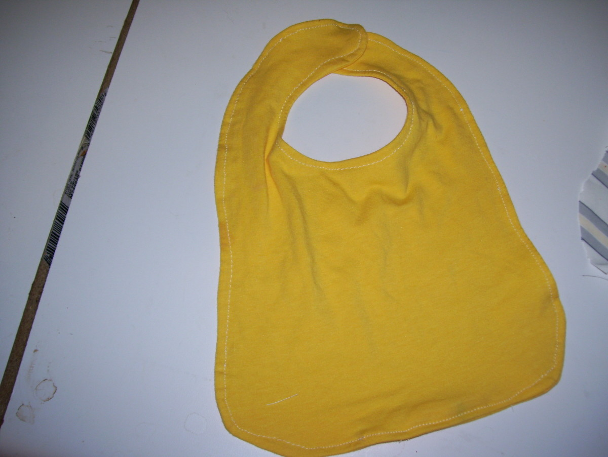 Turned and Top-stitched Bib